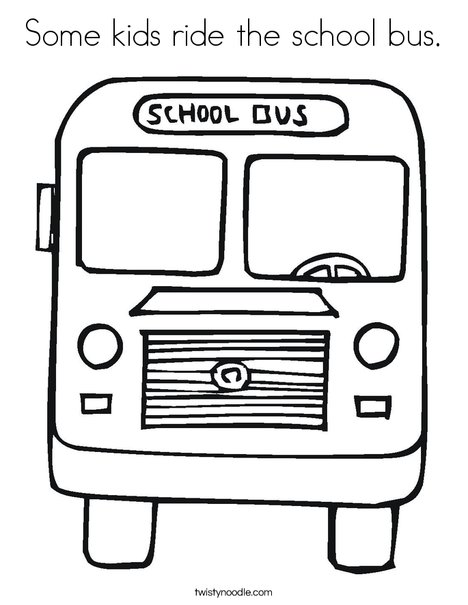 Some kids ride the school bus Coloring Page Twisty Noodle