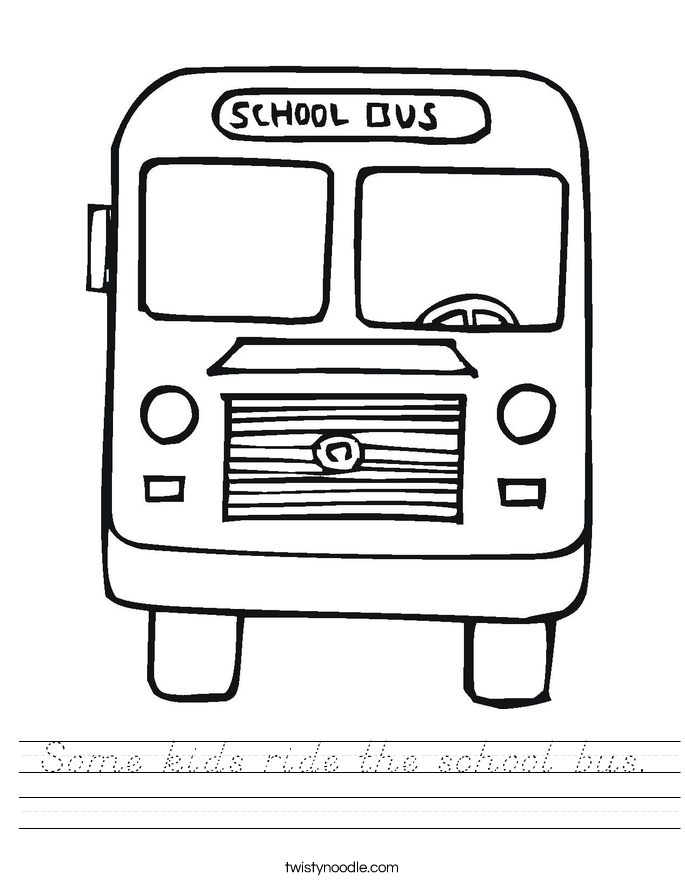 Some kids ride the school bus. Worksheet