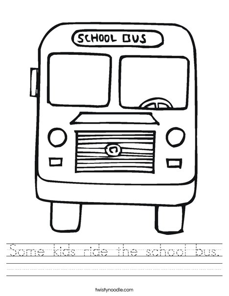 Some kids ride the school bus Worksheet - Twisty Noodle