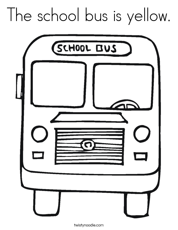 Yellow Bus Coloring Pages | Coloring Pages