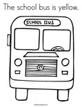 The school bus is yellow. Coloring Page