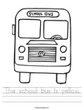 The school bus is yellow. Worksheet