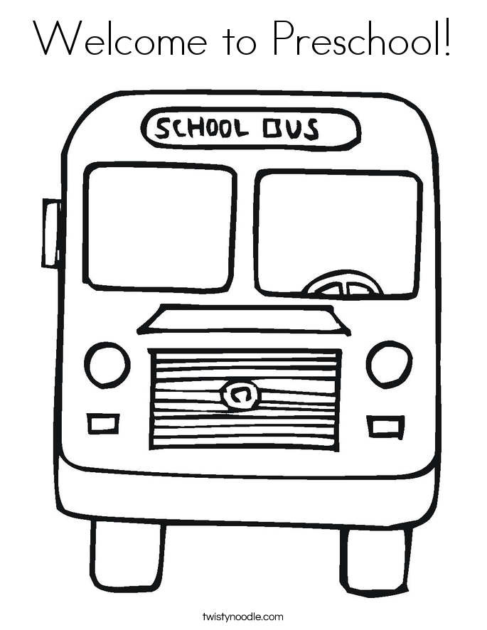 It's just a photo of Gorgeous Welcome To Preschool Coloring Page