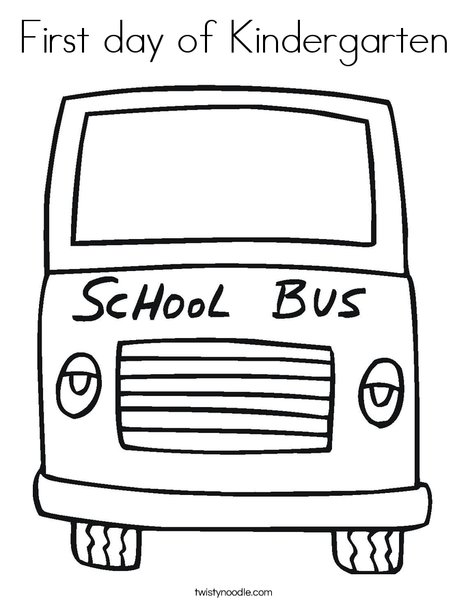 Yellow School Bus Coloring Page