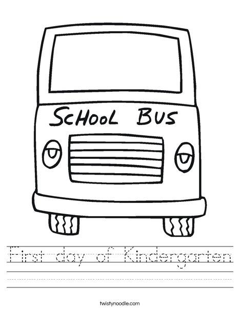 math worksheet : first day of kindergarten worksheet  twisty noodle : First Day Of Kindergarten Worksheets
