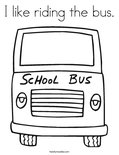 I like riding the bus. Coloring Page