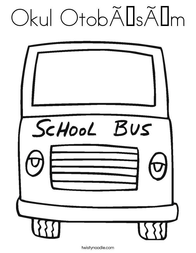 Okul Otobüsüm Coloring Page