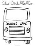 Okul OtobüsümColoring Page
