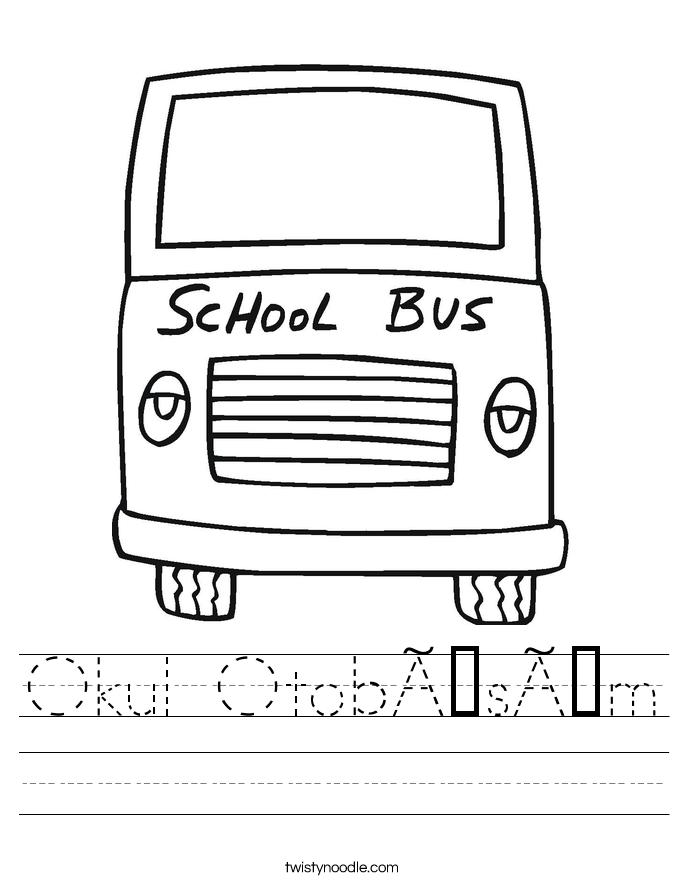 Okul Otobüsüm Worksheet