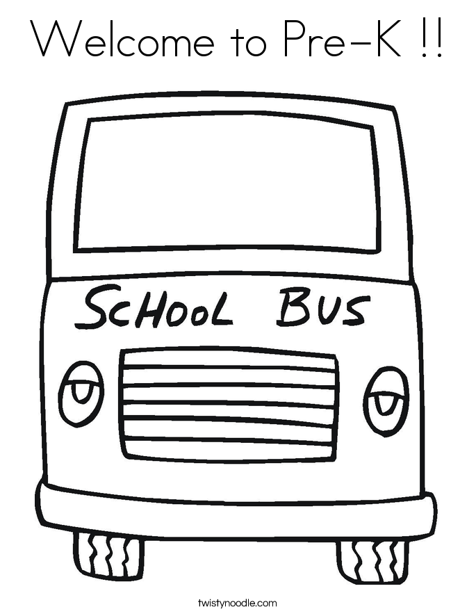 Welcome to Pre-K !! Coloring Page