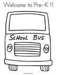 Welcome to Pre-K !!Coloring Page