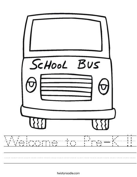Yellow School Bus Worksheet