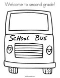 Welcome to second grade! Coloring Page