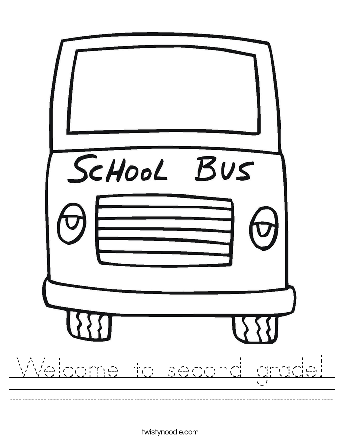 Welcome to second grade! Worksheet