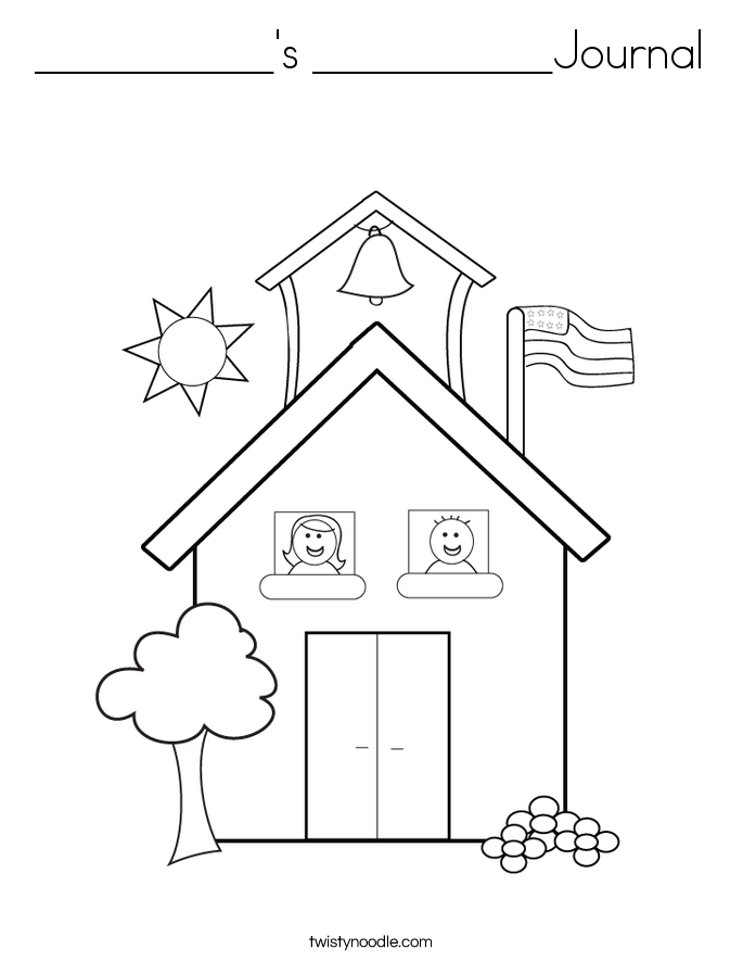 __________'s __________Journal Coloring Page