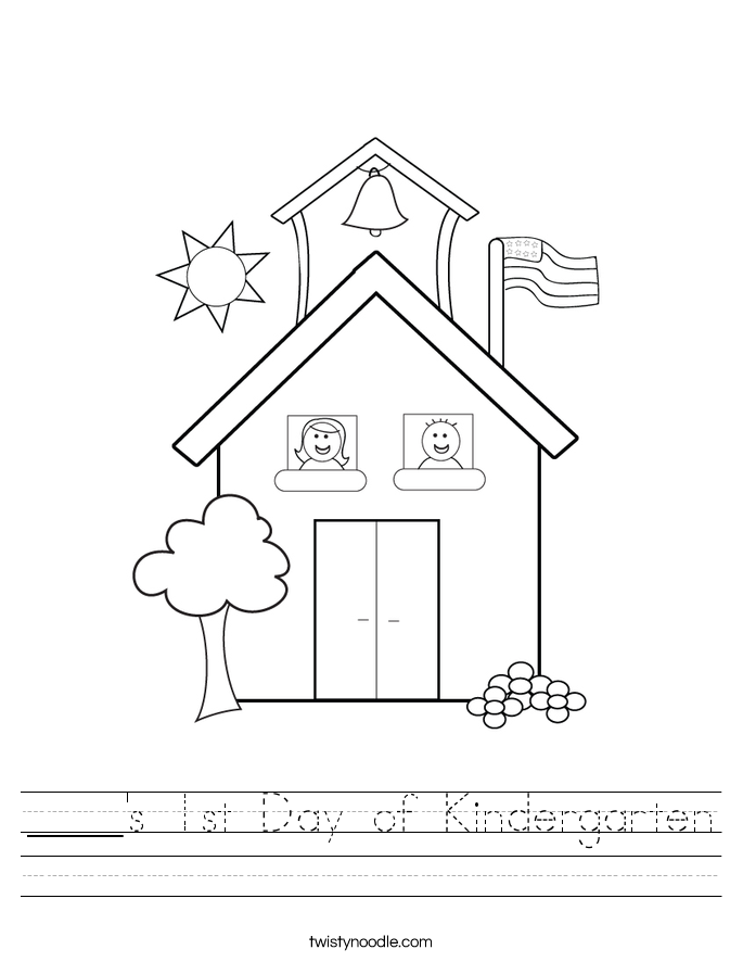 ____'s 1st Day of Kindergarten Worksheet