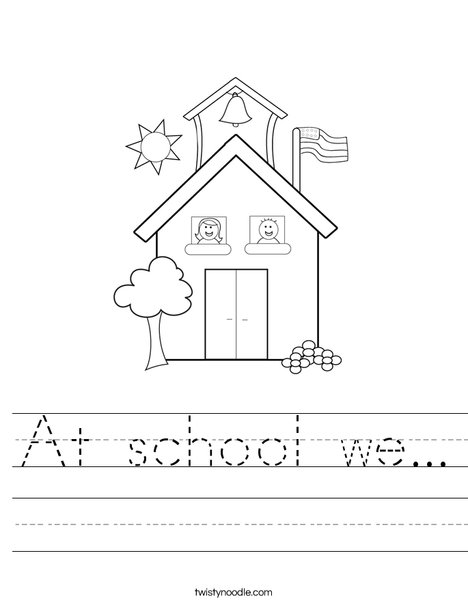 School with Kids Worksheet