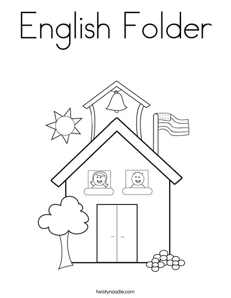 English Folder Coloring Page - Twisty Noodle