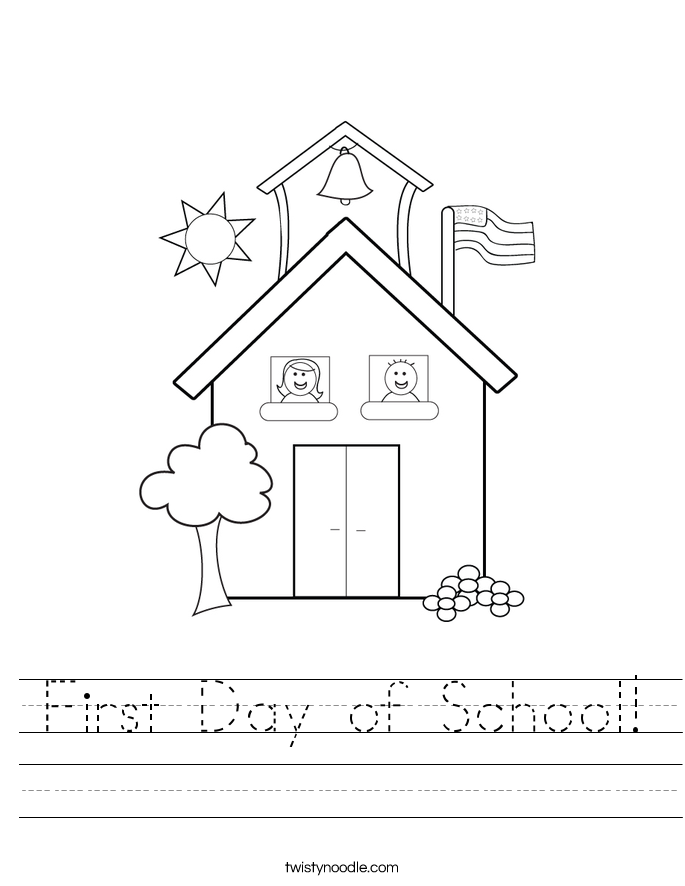 First Day of School! Worksheet