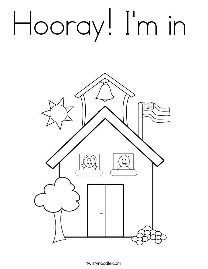 Hooray! I'm in  Coloring Page