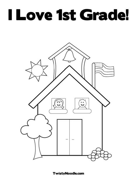 Coloring Worksheets For 1st Graders : Grade free colouring pages