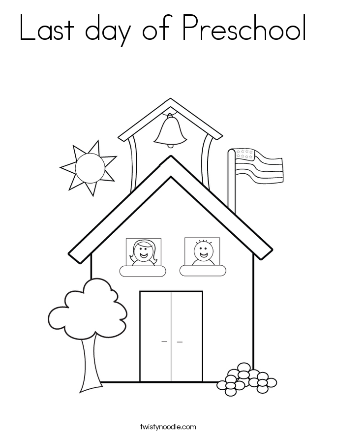 Last day of Preschool Coloring Page