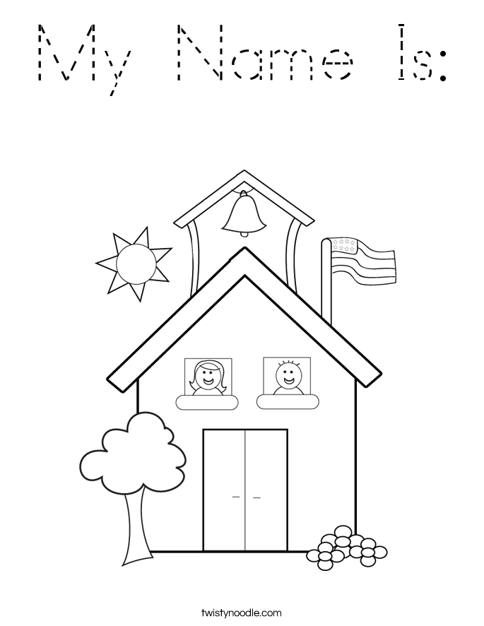 My Name Is: Coloring Page