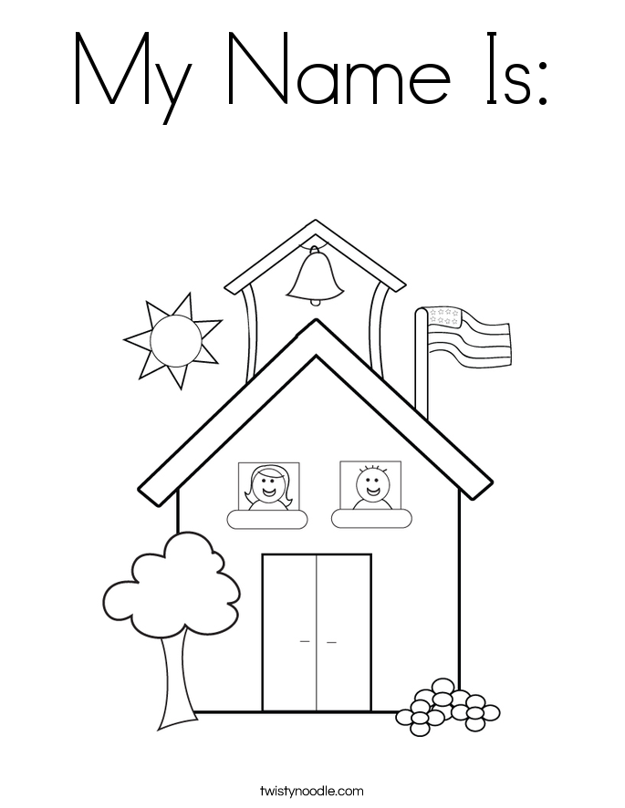 My Name Is Coloring Page