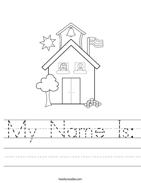 my name is coloring pages - my name is worksheet twisty noodle
