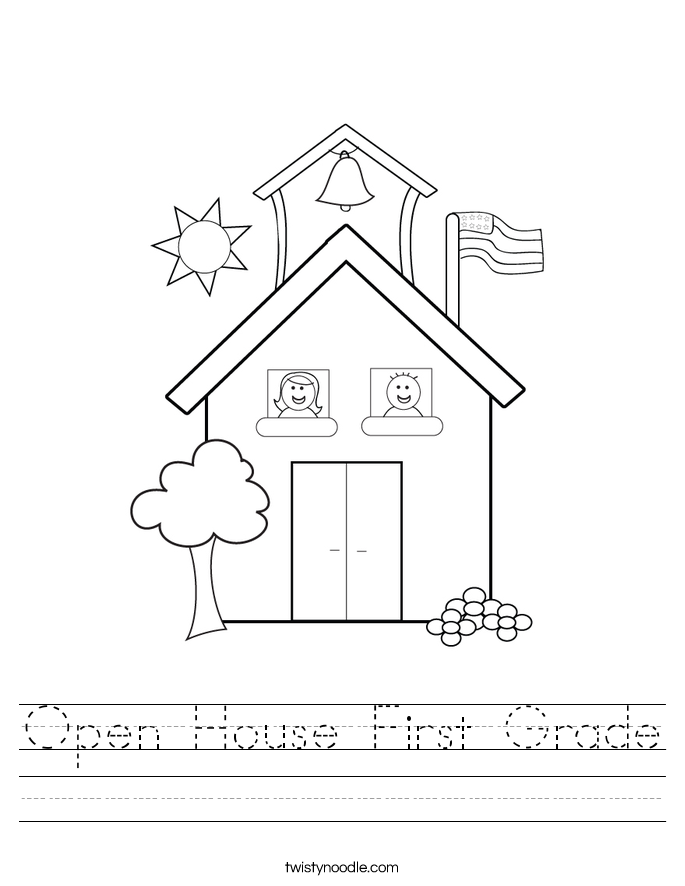 Open House First Grade Worksheet
