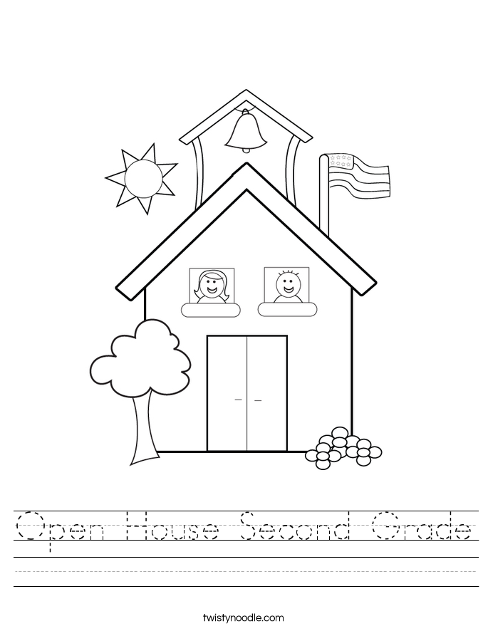 Open House Second Grade Worksheet
