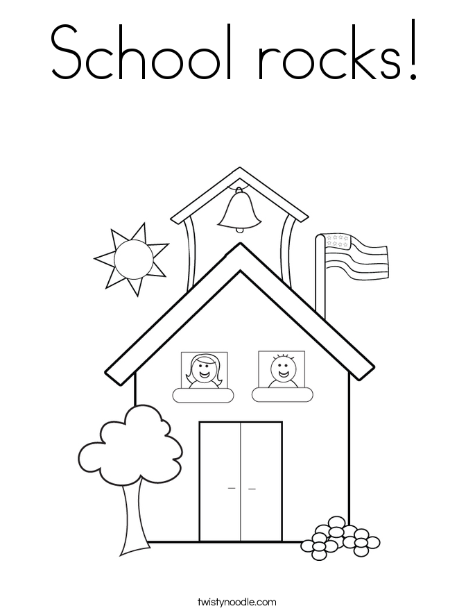 School rocks! Coloring Page