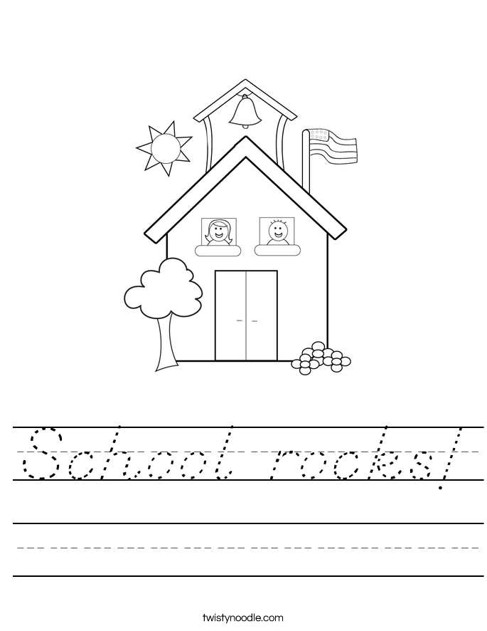 School rocks! Worksheet