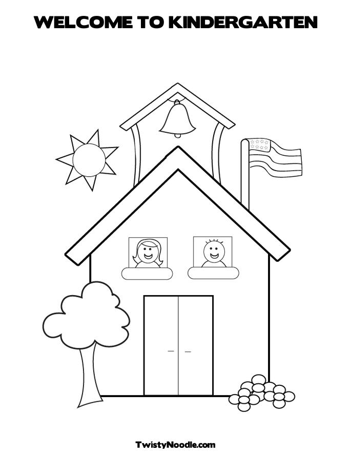 welcome kindergarten coloring pages - photo#14