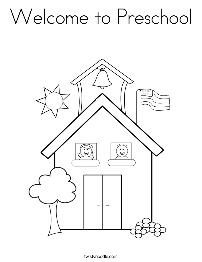 It is a photo of Influential Welcome To Preschool Coloring Page
