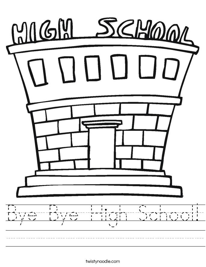 Bye Bye High School! Worksheet