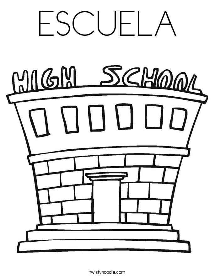 ESCUELA Coloring Page
