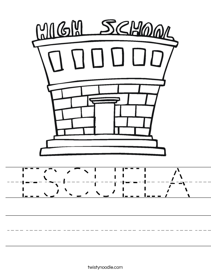 ESCUELA Worksheet