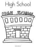 High SchoolColoring Page