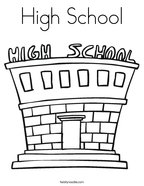 Schools coloring pages twisty noodle for School building coloring pages