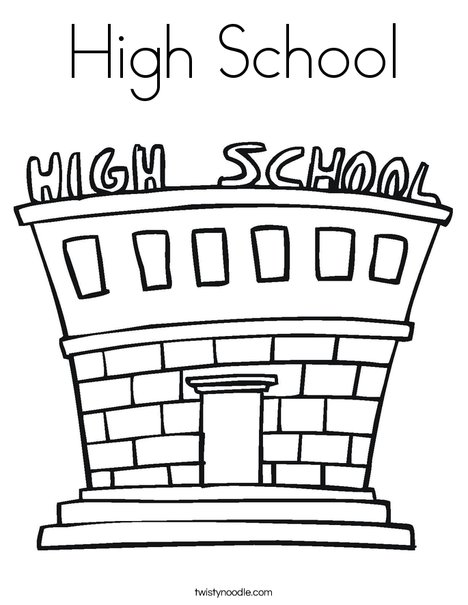 High School Coloring Page