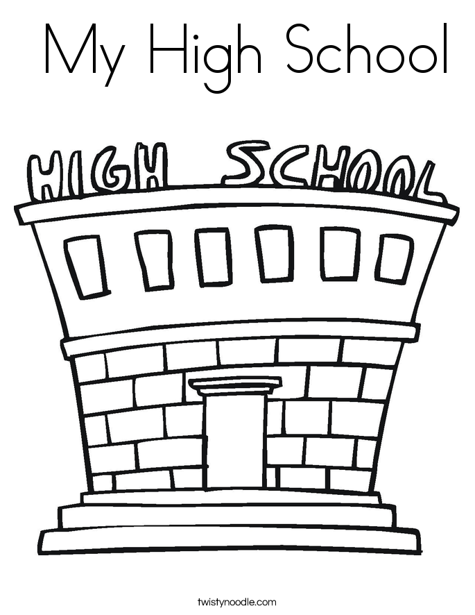 my first school coloring pages - photo#30