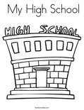 My High School Coloring Page