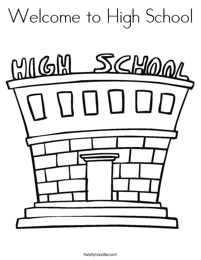 Welcome to High School Coloring Page