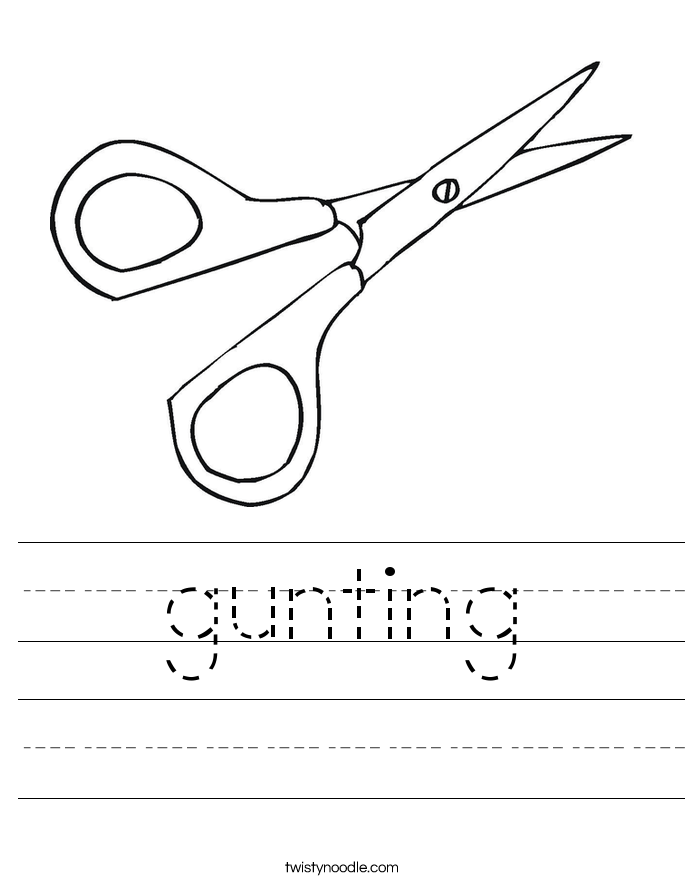 gunting Worksheet