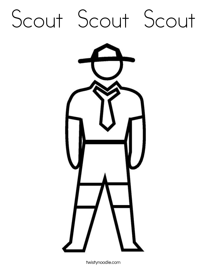 Scout  Scout  Scout Coloring Page