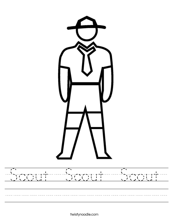 Scout  Scout  Scout Worksheet