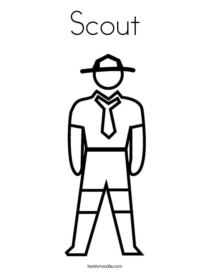 Scout Coloring Page