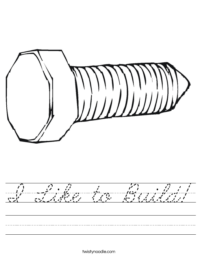 I Like to Build! Worksheet
