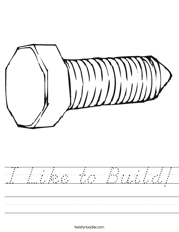 I Like to Build! Worksheet